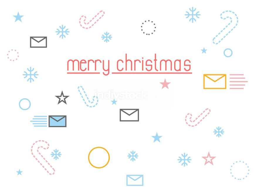 Merry Christmas. Holiday Accessories: letter to Santa Claus and