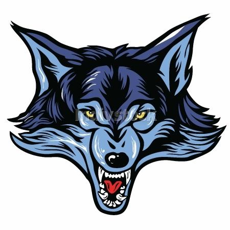 Vector of Wolf Head Mascot Vector Illustration