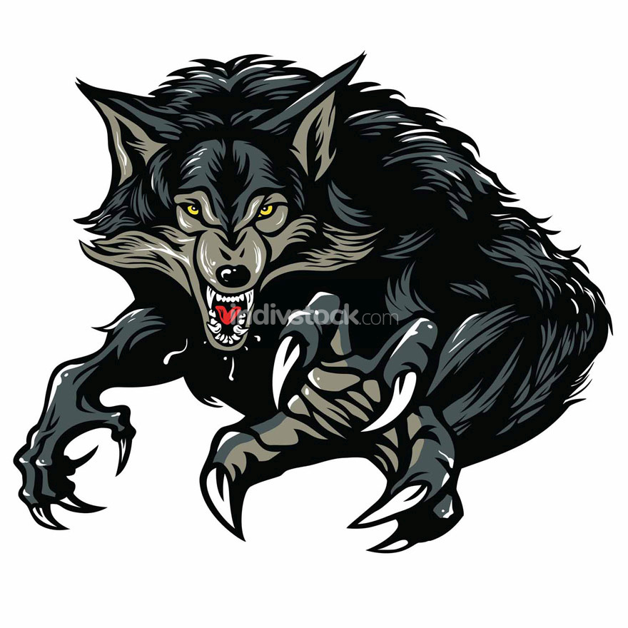Werewolf Vector Illustration