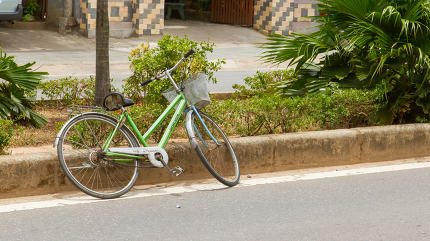 Abandoned bike on the streets