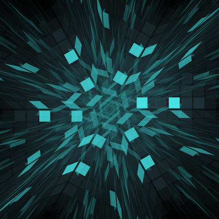 Abstract background. Fractal design. Square pattern.