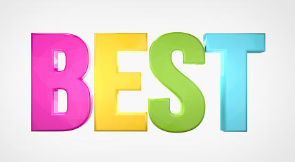 best colorful 3d render isolated white