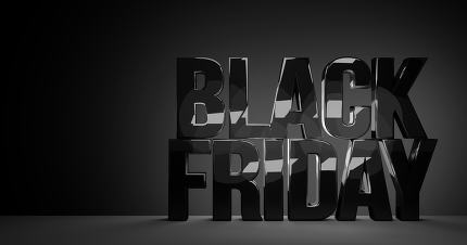 black friday bold letters glossy design