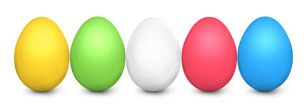 Easter Eggs 3d render isolated