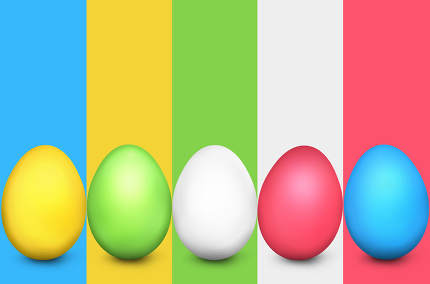 easter eggs fresh design 3d render