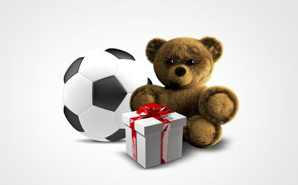free download: gifts 3d render. ball teddy box gifts