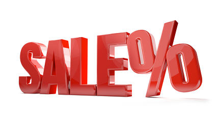 free download: sale percentage shopping 3d render sale symbol