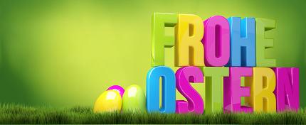 german language for happy easter 3D render