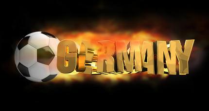Germany soccer football 3d render