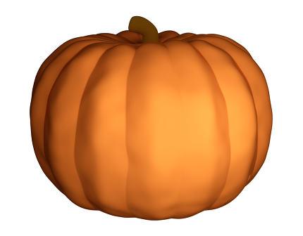 halloween pumpkin 3d render isolated