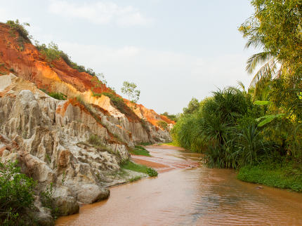 Ham Tien canyon in Vietnam