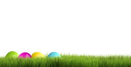 hidden easter eggs 3d render background