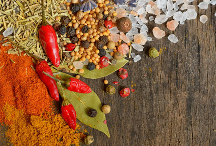 Ingredients for cooking, spices
