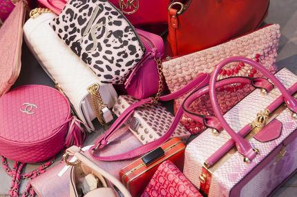Loads of luxury woman handbags