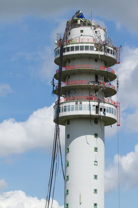 Radio Television Tower collapsed in Holland
