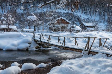Ribaritsa, winter landscape, Bulgaria