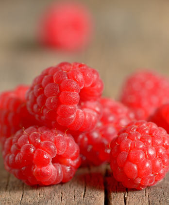 Ripe sweet raspberries