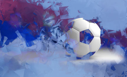 russia background soccer. russian design 3d render