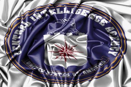 Satin flag - flag of the CIA
