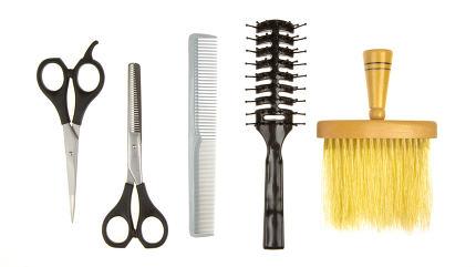 Set of barber tools