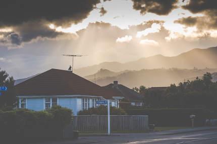 Sunset on the mountain. Motueka New Zealand