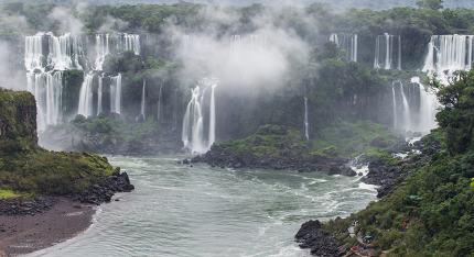 The majestic Iguazu Falls, one of the wonders of the world