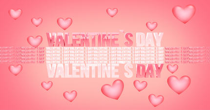 valentines day modern abstract 3d render background