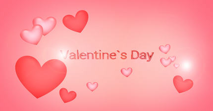 valentines daysoft hearts background 3d render
