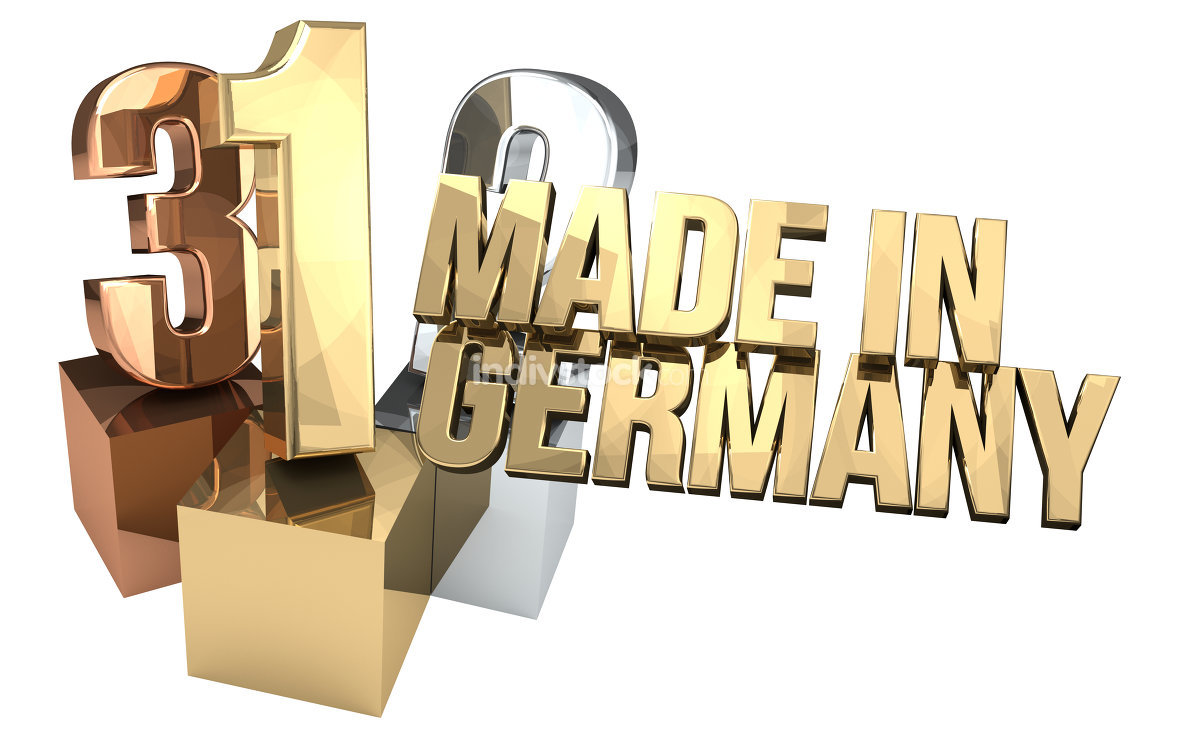 123 made in germany 3d rendering