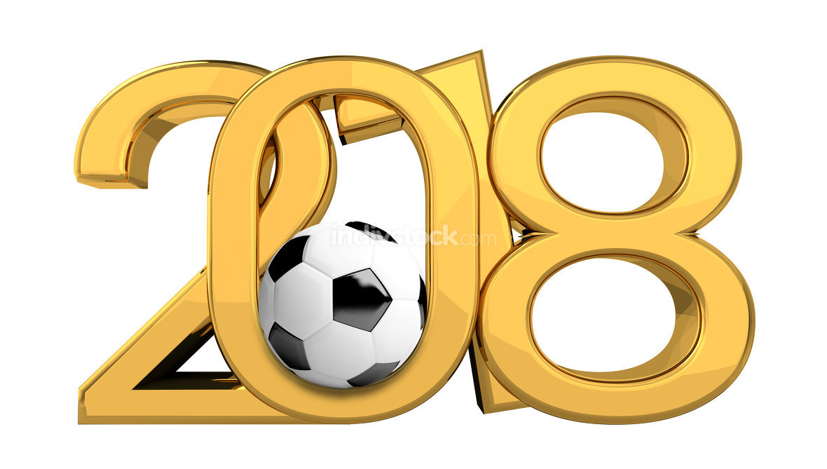 2018 light golden soccer symbol 3d render