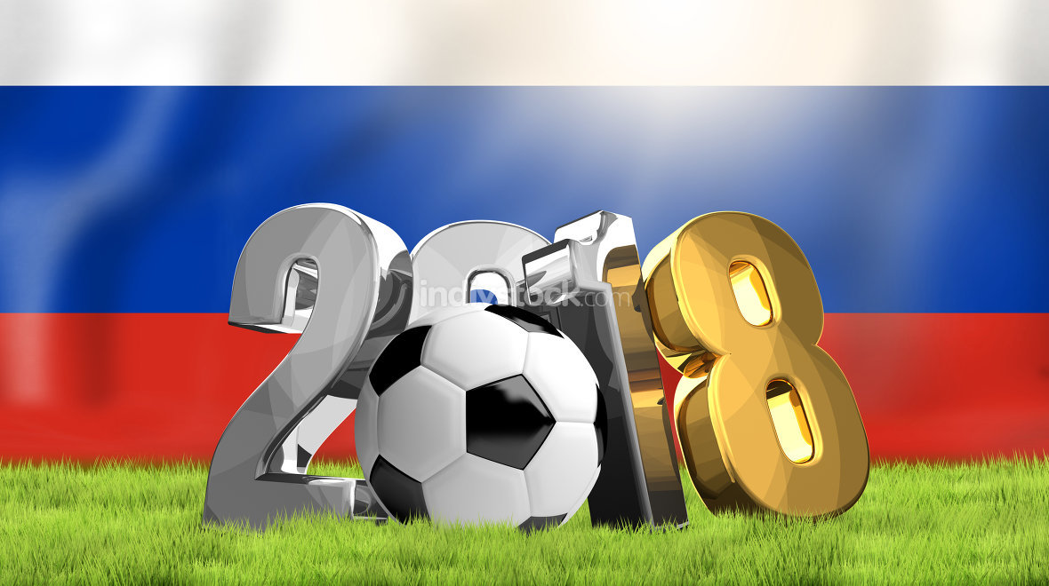 2018 Russia soccer football 3D rendering