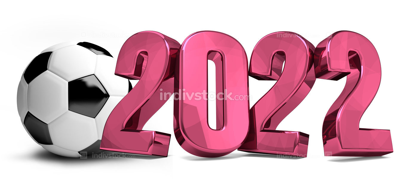 2022 football soccer 3d render symbol 2022