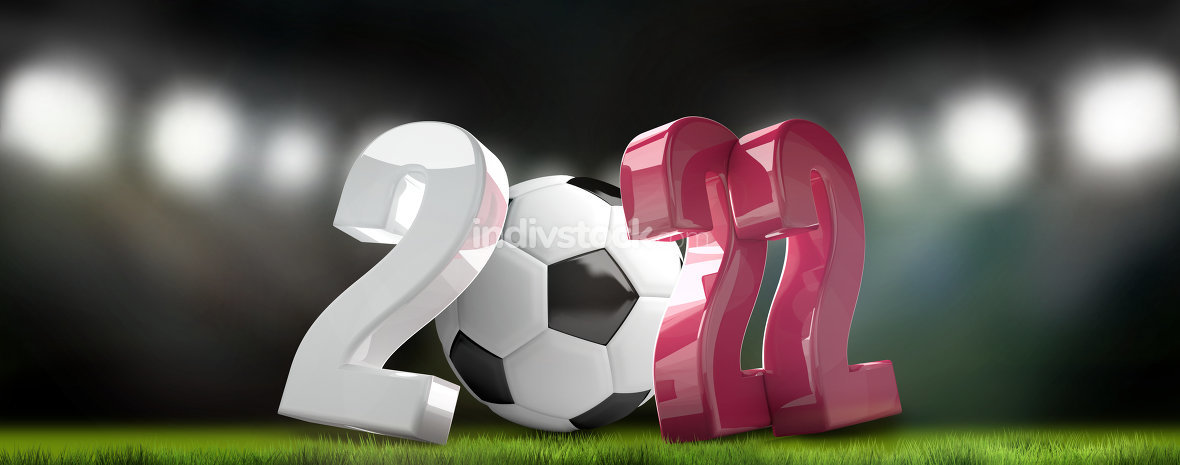 2022 football soccer qatar colorful 3d render