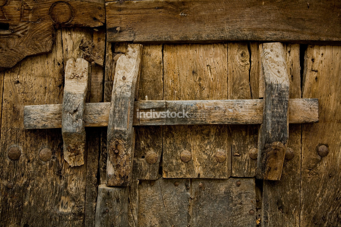 Ancient wooden lock