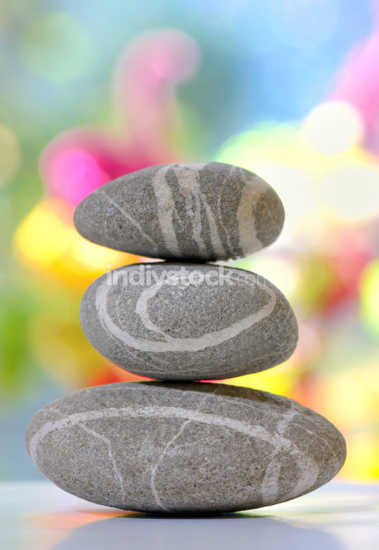 Balanced stack of pebbles