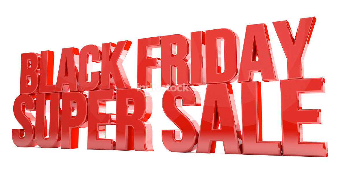 black friday super sale red isolated