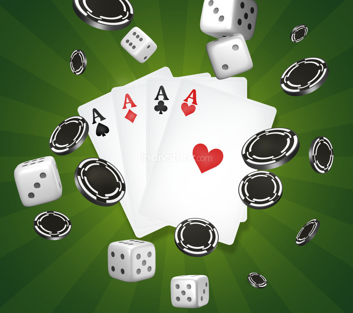 casino theme. Poker cards. gambling poker 3d render