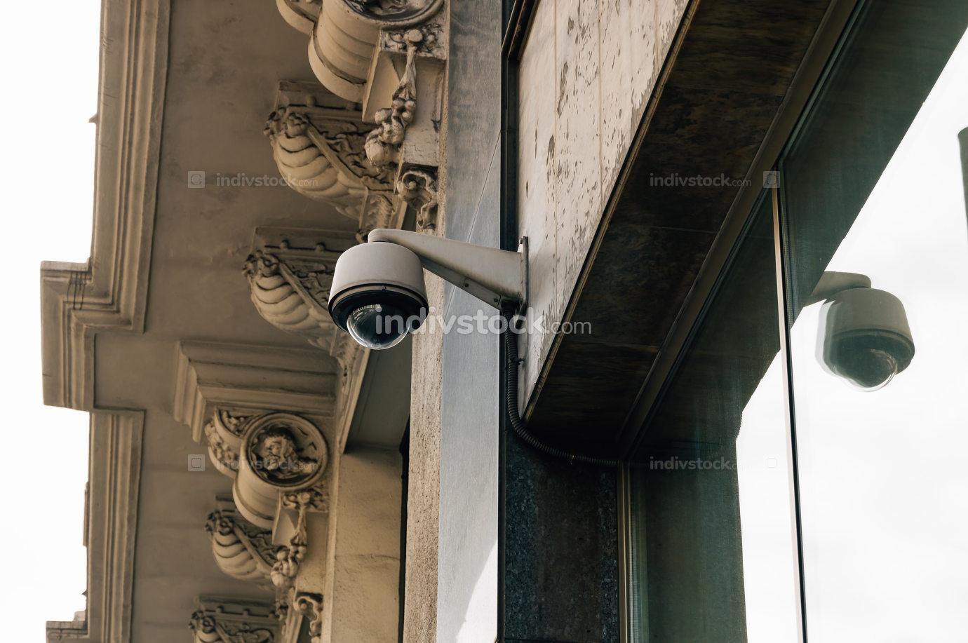 CCTV surveillance camera in the city