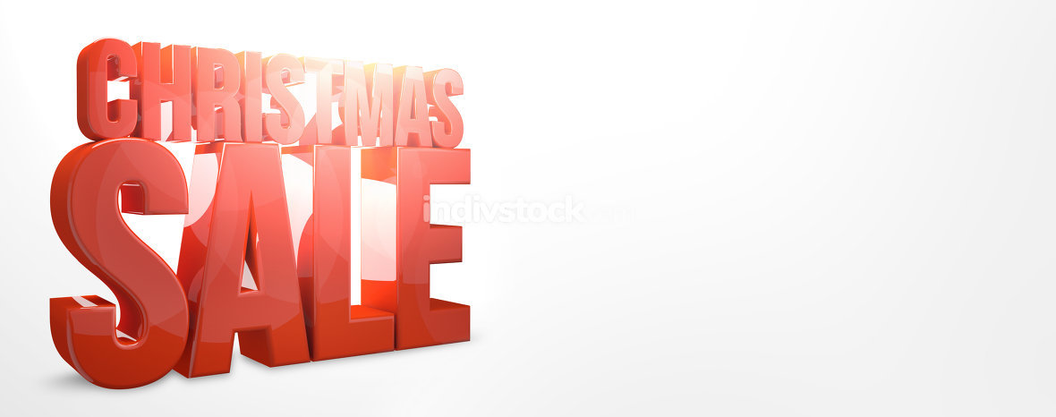 christmas sale 3d render red