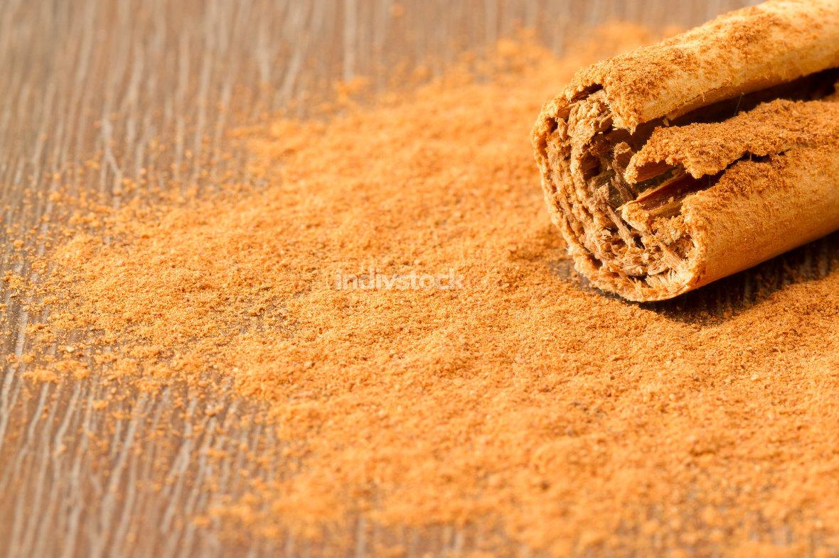 Cinnamon stick isolated