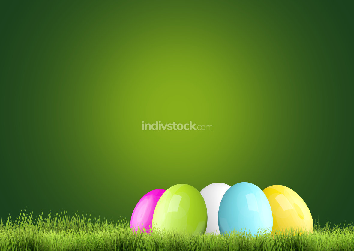 colorful hidden easter eggs 3d render