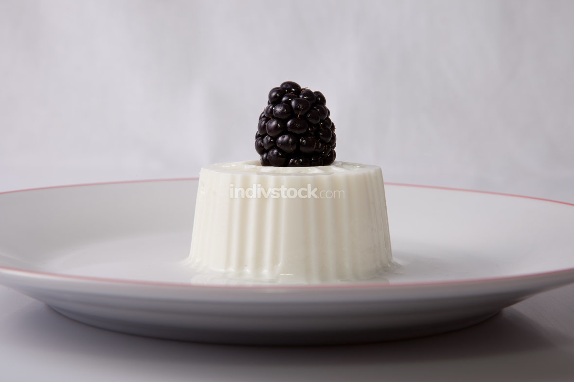 Cottage cheese with blackberries