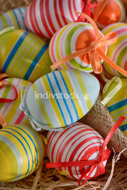 decoration plastic colorful easter eggs