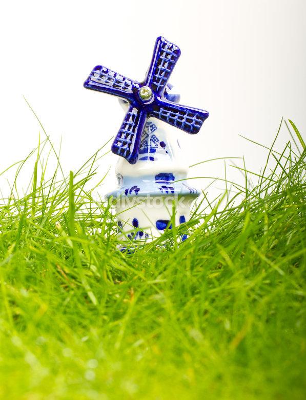 Dutch mini porcelain windmill