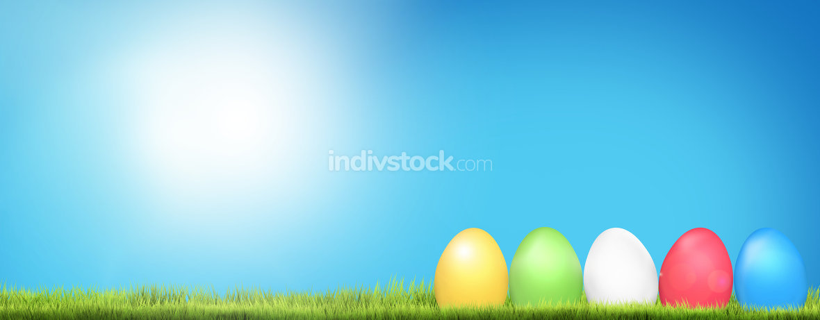 easter eggs background 3d render