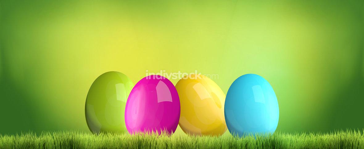 easter time easter eggs 3D render