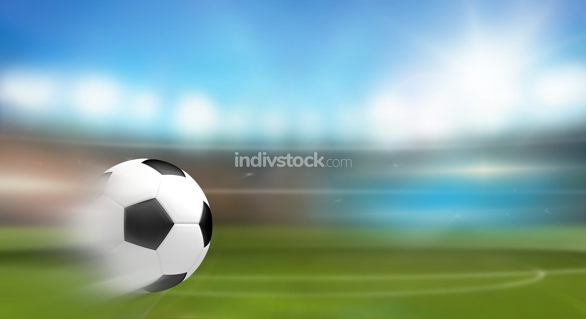 fast shoot football soocer ball 3d render