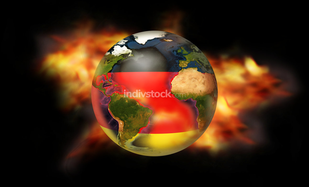 fire and flames Germany. Elements of this image furnished by NASA.