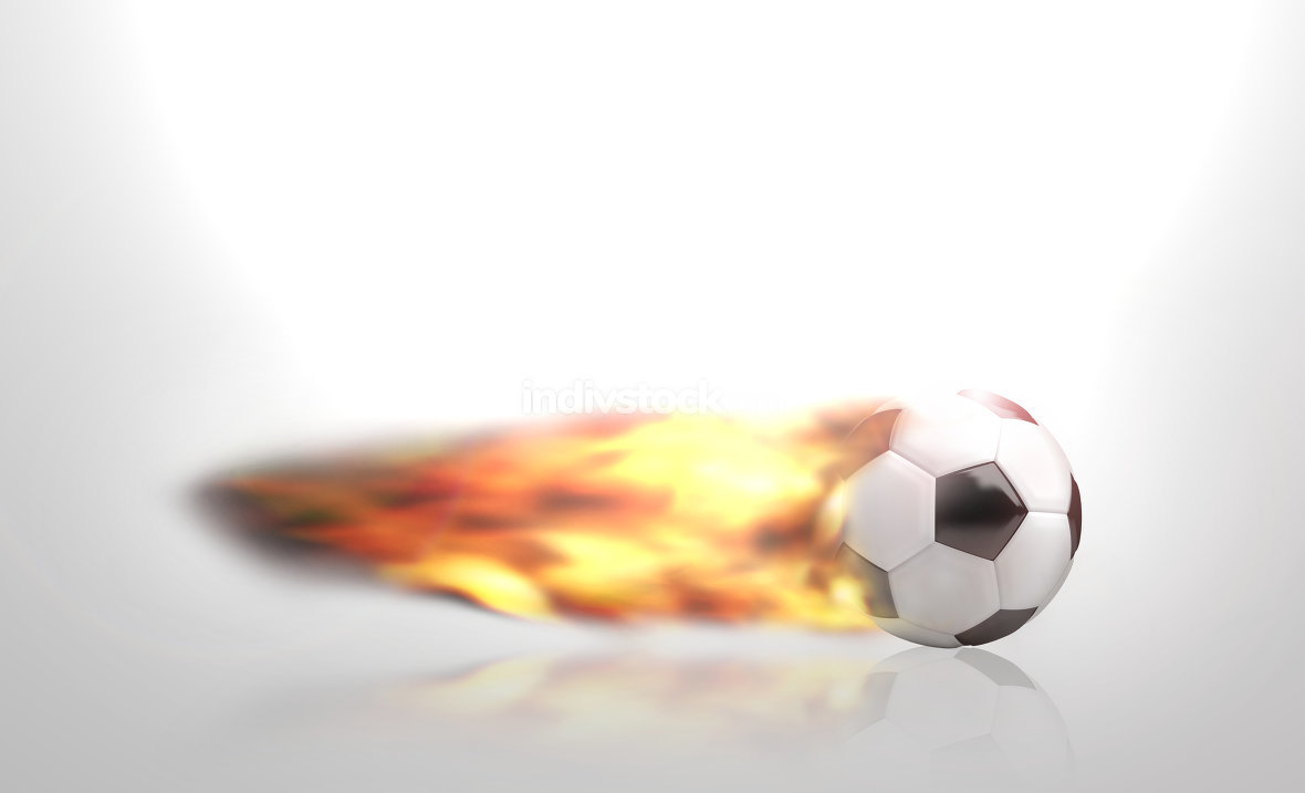 fire ball 3d render