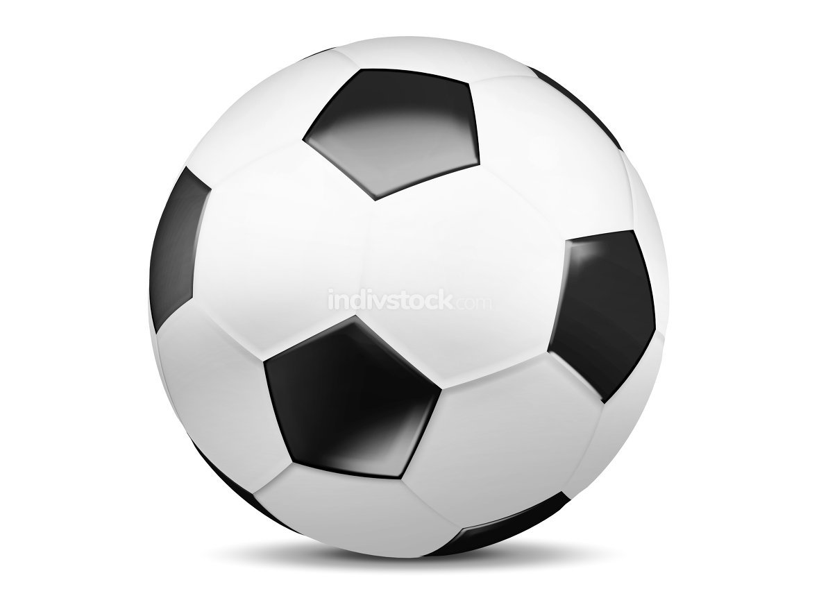 football soccer ball 3d render